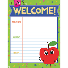 Welcome Chart Images Details About School Tools Welcome Chart Carson Dellosa Cd 114216