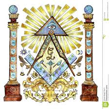 Freemason Design Watercolor Illustration With Freemason And Mysterious