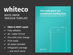 White Paper Templates White Paper Template For Indesign Themzy