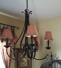 chandelier before the makeover