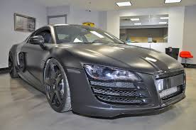matte black audi r8. in addition to its vf engineering supercharger intercooler and ecu tune this r8 sits on a set of matte black adv1 wheels is lowered hu0026r lowering audi