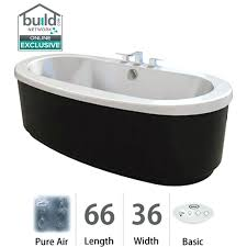 white bravo pure air freestanding bathtub with center drain and reversible blower jacuzzi systems clean whirlpool bath plumbing system cleaner