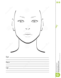 blank face charts for makeup artists easy makeup ideas