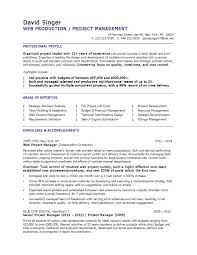 Project Manager Resume Template Fearsome Construction Project