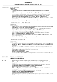 Dairy Manager Sample Resume Farm Manager Resume Samples Velvet Jobs 21