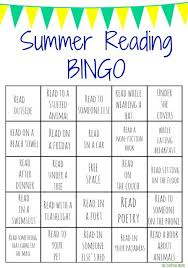 best summer break teachers images school  summer reading bingo challenge for kids printables