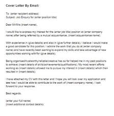 Cover Letter Temlate Email Covering Letter Job Cover Letter Email Cover Letter