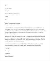 Letter Of Recommendation Samples For Students Sample Letter Of Recommendation 7 Examples In Word Pdf