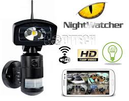Nightwatcher Security Light Camera Nightwatcher Robotics Nw760 Wifi Security Flood Light Black