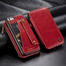 caseme 011 series detachable 2 in 1 business zipper leather wallet case for iphone