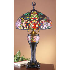 j j peng stained glass tiffany style table lamp