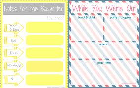 babysitting schedule template 10 best photos of printable babysitting schedule babysitting