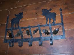 Moose Coat Rack Hand Made Moose Coat Rack by Black Dog Forge CustomMade 18