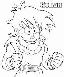 Gohan Con Testo Nome Disegno Da Colorare Dragon Ball Disegni Da