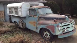 The perfect pair: 1955 Studebaker pickup with vintage pop-up camper ...