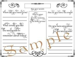 Wedding Guest Book Template Download Wedding Guest Book Page Formal Pdf Template 85 X By Top