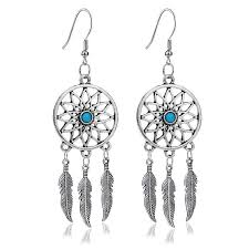 Where To Buy Dream Catchers In Singapore Wholesale Turquoise Fashion Dream Catcher EarringsFashion 38