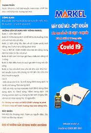 Combo 1 Máy khử khuẩn Nano Markel cho ô tô văn phòng gia đình và 4 lọ dung  dịch Nano Bạc khử mùi khử khuẩn Markel 150ml - Hàng chính hãng
