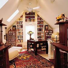 attic home office. Cool Attic Home Office Design Ideas