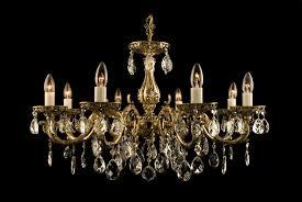 8 light crystal chandelier in antique brass tl 974 008 008