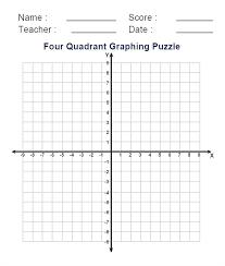 Quadrant On A Graph Math Four Quadrant Graph Paper One Graph