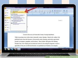 Word Document Mla Format 3 Ways To Create A Header In Mla Format Wikihow