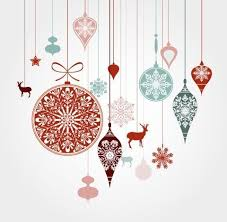 hanging christmas ornaments vector. Hanging Christmas Holiday Ornaments Vector Intended