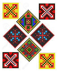 Different Types Of Patterns Cool Ukrainian Folk Patterns Of Different Types And Colors Royalty Free
