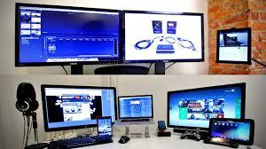 Gaming office desk Workstation Thedeskdoctors Hg Ultimate Tech Office Tour Gaming Setup Desk Setup 2013 Youtube