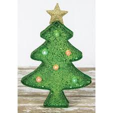 Led Light Up Christmas Tree Led Lighted Glittered Metal Christmas Tree Light Up
