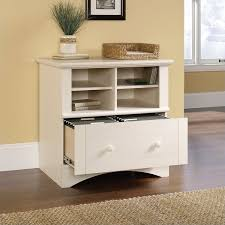 lateral file cabinet white. Fine File 1 Drawer Lateral Wood File Cabinet In Antique White And B