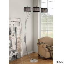 furniture bowery arm arc floor lamp by adesso home for bowery