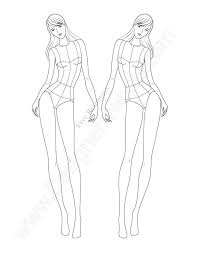 Unique Cute Dress Paper Doll Body Template Stock Vector Royalty Free