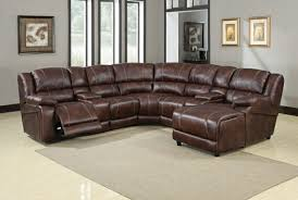 brown polished microfiber reclining