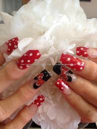 Eye Candy Nails & Training - Minnie Mouse freehand nail art with ...