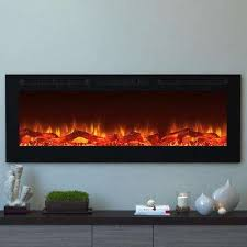 cynergy 60 in xl log electric recessed built in fireplace