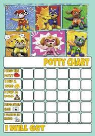 Paw Patrol B Potty Toilet Training Reward Chart Free Stars