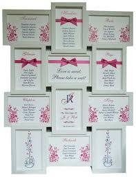 Brambles Wedding Stationery Table Plans