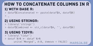 how to concatenate two columns or more