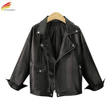 plus size leather jacket women big size 5xl 2018 black turn down collar zipper casual euro fashion coats for women pu jackets fashion jackets denim jacket