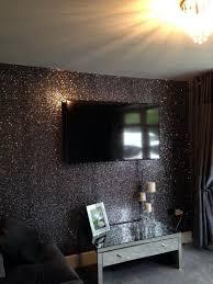black glitter wallpaper living room
