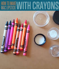 diy how to make mac lipstick colors with crayons