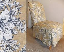 pretty toile slipcovers for parson chairs
