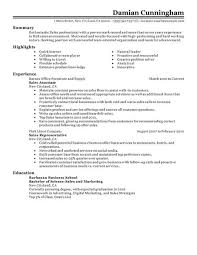 resume example for sales jobs. sales resume sample .