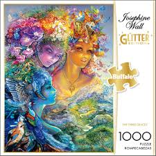 josephine wall the three graces glitter 1000 piece jigsaw puzzle box on jigsaw puzzle wall art with josephine wall the three graces glitter edition 1000 piece jigsaw