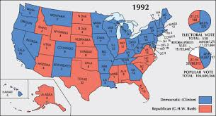 presidential elecion results 1992 and 1996 us presidential election results maps bill clinton