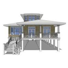 Beach house being lifted  This house will be supported   wood    AmazingPlans com House Plan  DT Sea Oats   Beach   Pilings  Cabin