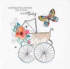 Congratulation On A Baby New Baby Greeting Cards Pram New Ba Congratulations Card Free Uk
