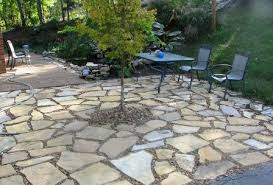Exellent Flagstone Patio Moss Savvyhousekeeping Types Of Patios How To Lay Throughout Impressive Design