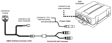 installation and connection of the audiovox mediabridge kit a mbr connection diagram for dsp option